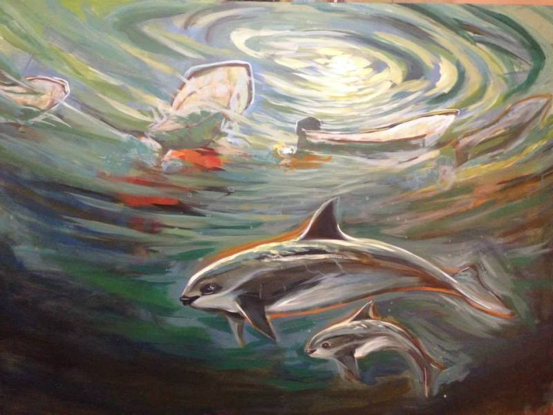 Memuco's beautiful new Vaquita painting
